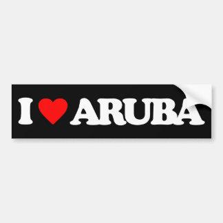 I LOVE ARUBA BUMPER STICKER