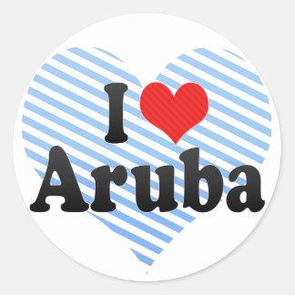 I Love Aruba Classic Round Sticker