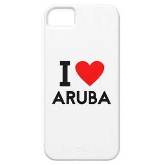 i love Aruba country nation heart symbol text iPhone 5 Case