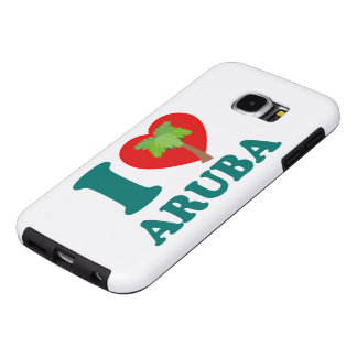 I Love Aruba Palm Tree Samsung Galaxy S6 Cases