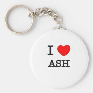 I Love Ash Keychain