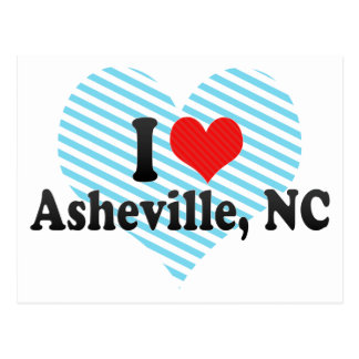 I Love Asheville, NC Postcard
