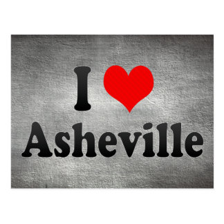 I Love Asheville, United States Postcard