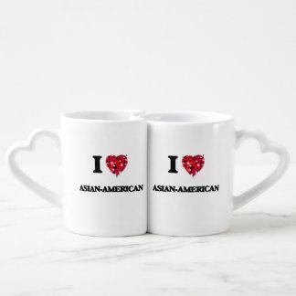 I Love Asian-American Couple Mugs