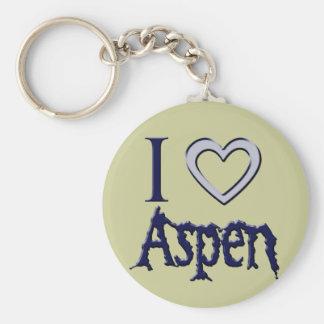 i love aspen keychain