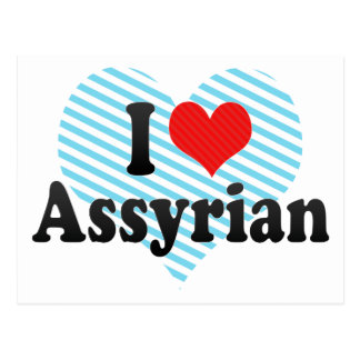 I Love Assyrian Postcard