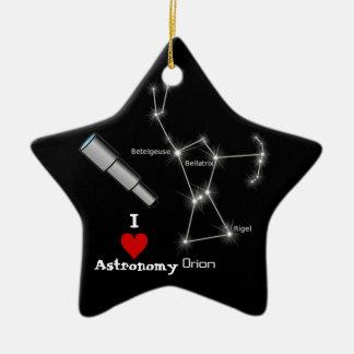 I Love Astronomy Ceramic Ornament