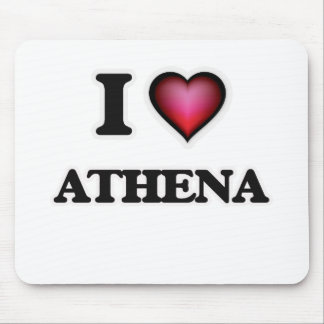I Love Athena Mouse Pad