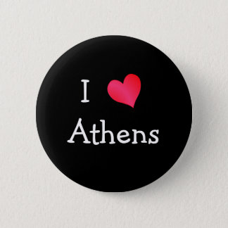 I Love Athens 2 Inch Round Button