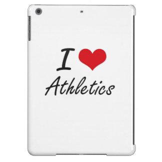 I Love Athletics Artistic Design iPad Air Case