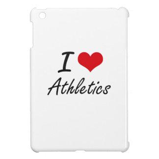 I Love Athletics Artistic Design iPad Mini Cases