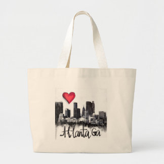 I love Atlanta Large Tote Bag