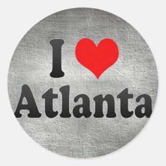 I Love Atlanta, United States Classic Round Sticker