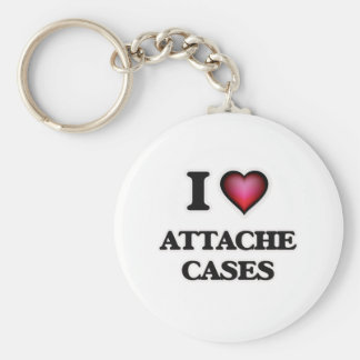 I Love Attache Cases Keychain