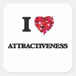 I Love Attractiveness Square Sticker