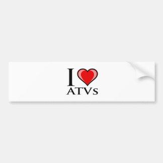I Love ATVs Car Bumper Sticker