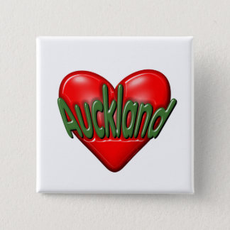 I Love Auckland 2 Inch Square Button
