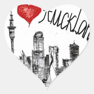 I love Auckland Heart Sticker