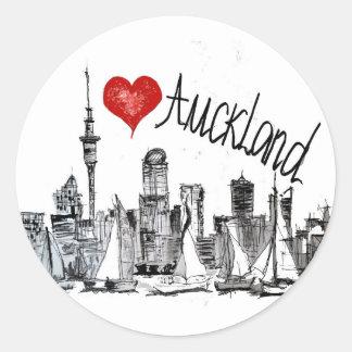 I love Auckland Round Sticker