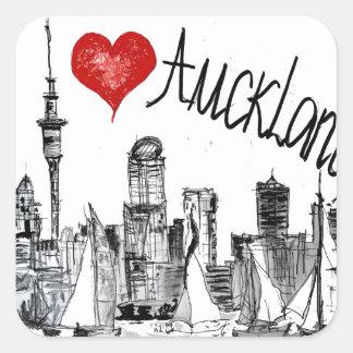 I love Auckland Square Sticker