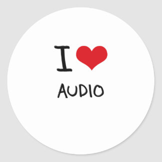 I Love Audio Classic Round Sticker