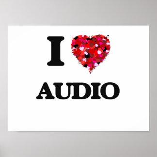 I Love Audio Poster