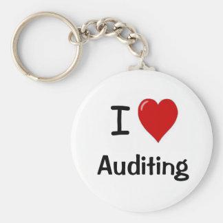 I Love Auditing - I Heart Auditing Keychain