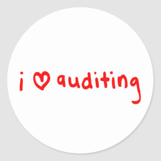 I Love Auditing Sticker for Auditors