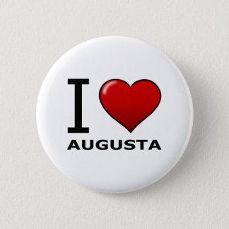 I LOVE AUGUSTA,GA - GEORGIA 2 INCH ROUND BUTTON