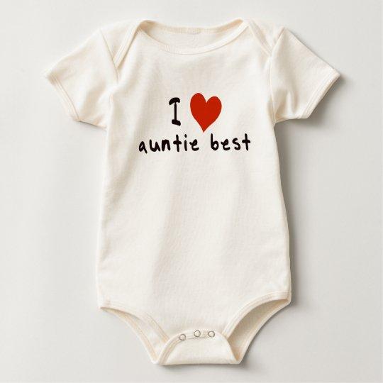 I love auntie best baby bodysuit