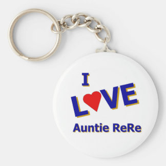 I Love Auntie ReRe designed by Celeste Sheffey Keychain