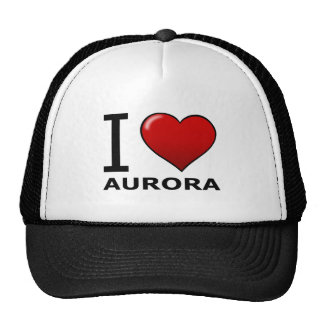 I LOVE AURORA, IL- Illinois Trucker Hat