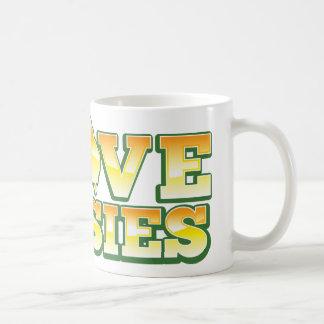 I Love Aussies! Australiana Design Coffee Mug