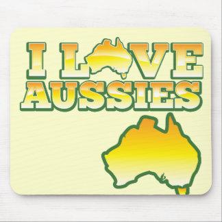 I Love Aussies Australiana Design Mouse Pads