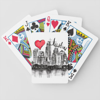 I love Austin Bicycle Playing Cards