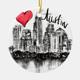 I love Austin Ceramic Ornament