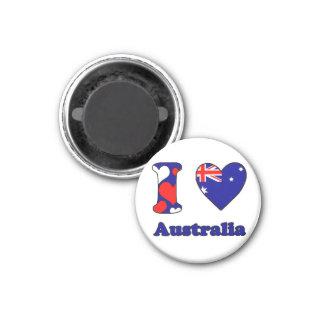I love Australia 1 Inch Round Magnet