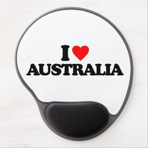 I LOVE AUSTRALIA GEL MOUSEPAD