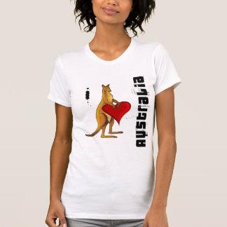 I love Australia - Kangaroo heart design Tee Shirts
