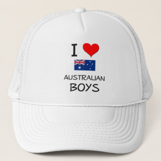 I Love Australian Boys Trucker Hat