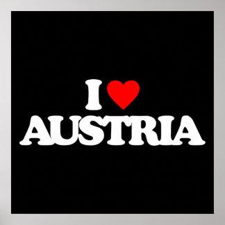 I LOVE AUSTRIA POSTER