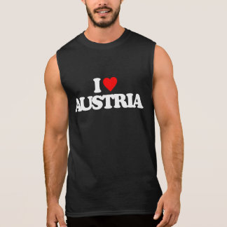 I LOVE AUSTRIA SLEEVELESS SHIRT