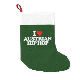 I LOVE AUSTRIAN HIP HOP SMALL CHRISTMAS STOCKING