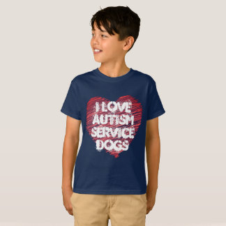 I Love Autism Service Dogs T-Shirt (Navy)