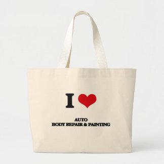 I Love Auto Body Repair & Painting Jumbo Tote Bag