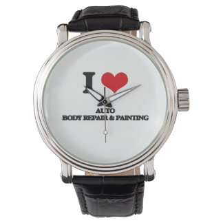 I Love Auto Body Repair & Painting Wristwatch