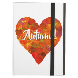 I Love Autumn, Bold—Red Aspen Leaf Heart 1 Case For iPad Air