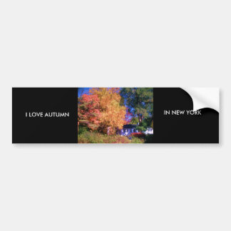 I LOVE AUTUMN IN NEW YORK BUMPER STICKER