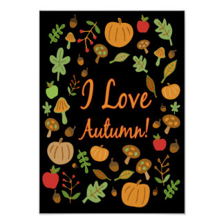 I Love Autumn! Poster