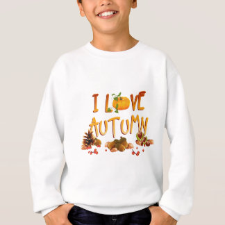 i love autumn sweatshirt